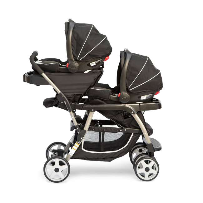 Graco Double Baby Stroller + SnugRide Car Seat + Car Seat ...